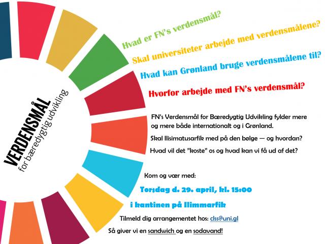 Ilisimatusarfik arrangement: Oplæg om FN's Verdensmål